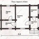 План бани 26 м2
