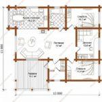 План дома 156 м2