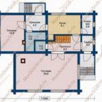 План 1 этажа дома 124,6 м2