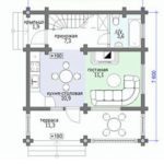 План дома 88,3 м2 1 этаж