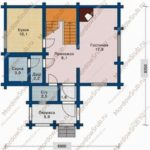 План 1 этажа дома 92,6 м2