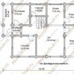 План 1 этажа дома 187,6 м2