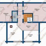 План 2 этажа дома 124,6 м2