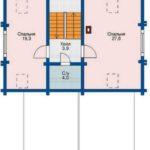 План 2 этажа дома 129 м2