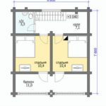 План дома 88,3 м2 2 этаж