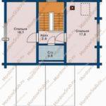 План 2 этажа дома 92,6 м2