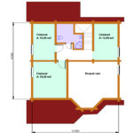 План 2 этажа дома 134 м2