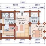 План дома 20,5 м2
