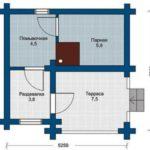 План бани 5 на 5 метров