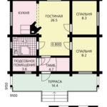 План дома 60 м2