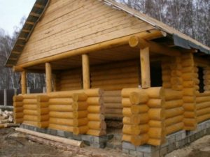 Сруб бани 6 на 6 метров из бревна по низкой цене