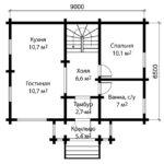 План дома 6 на 9 метров 1 этаж