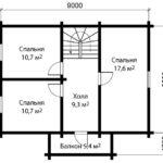 План дома 6 на 9 метров 2 этаж