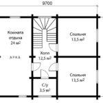 План дома 8 на 10 метров 2 этаж