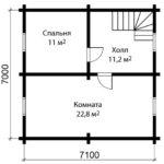 План 2 этажа дома 9 на 10 метров