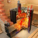 Дровяная печь в баню