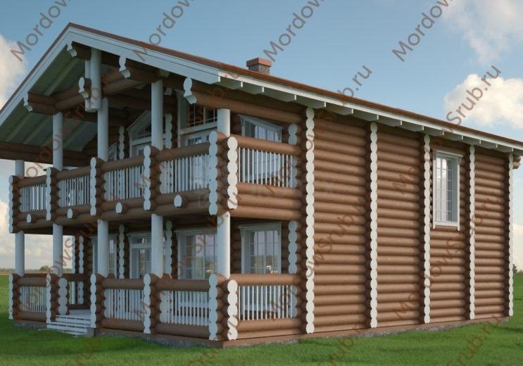 Сруб гостиницы 331,9 м2