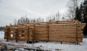 Март 2018 год сруб Дмитров Московская область дом размерами 11 на 14 метров 2