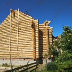 Сборка сруба 7 на 8 с мансардным этажом в Раменском районе деревня Еганово