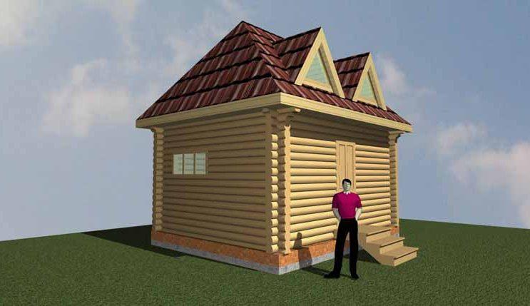 Сруб дом 18 м2