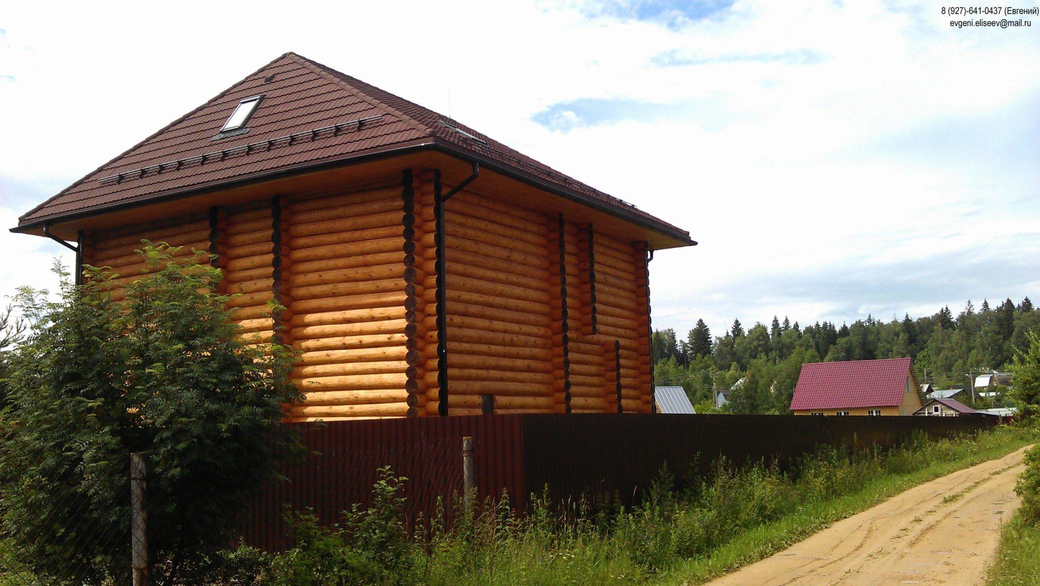 Готовый дом из сруба бревна
