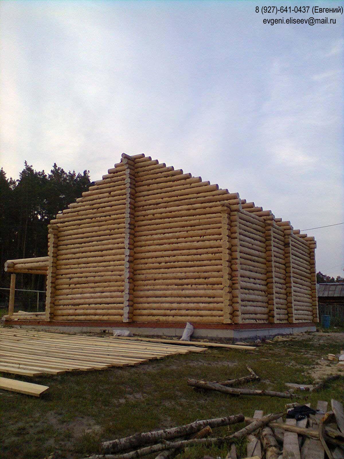 Огромный дом из бревна