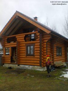 Сруб дома из бревна в Пензенской области