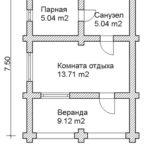 План бани 40 м2