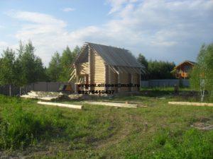 Строительство бани из бревна (1)