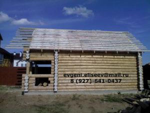 Строительство бани из бревна (2)
