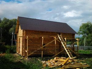 Строительство бани из бревна (3)