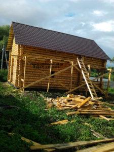 Строительство бани из бревна (4)