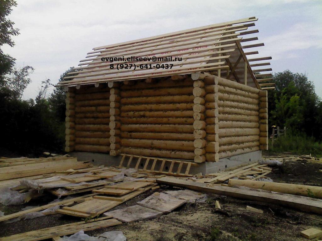 Строительство дома из бревна (12)