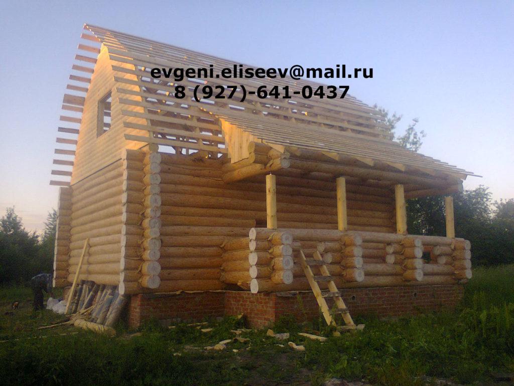 Строительство дома из бревна (15)