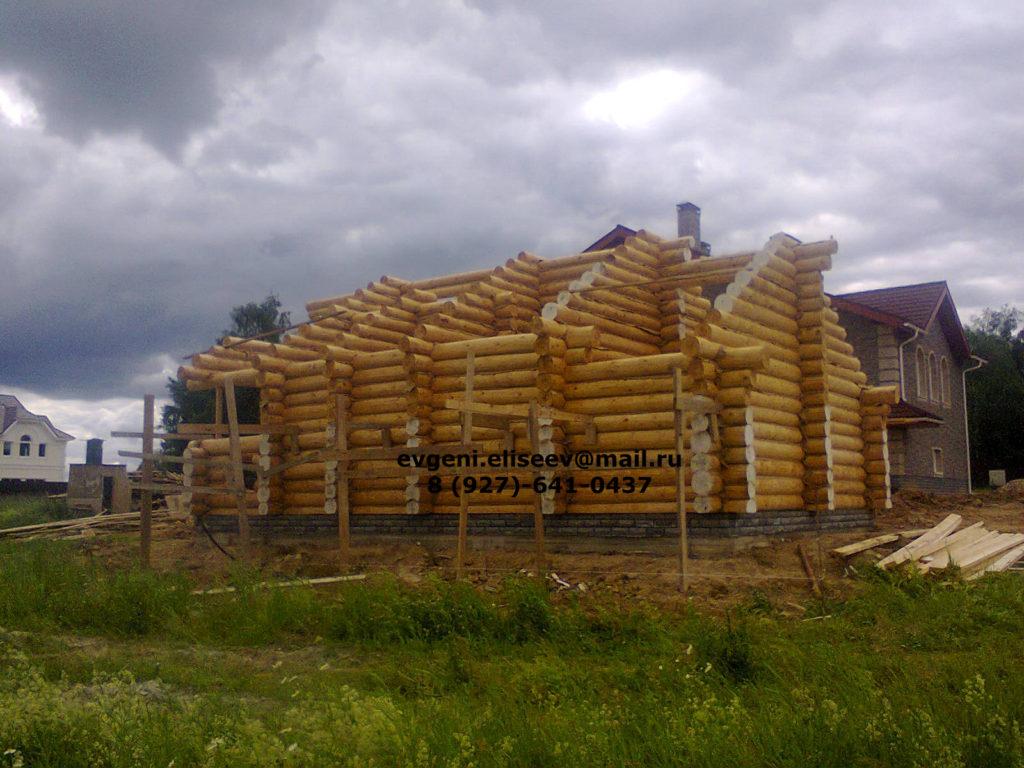Строительство дома из бревна (18)
