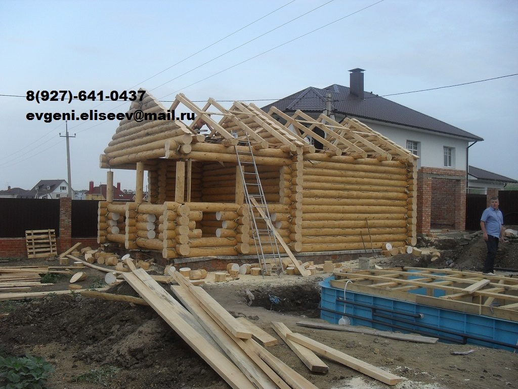 Строительство дома из бревна (27)