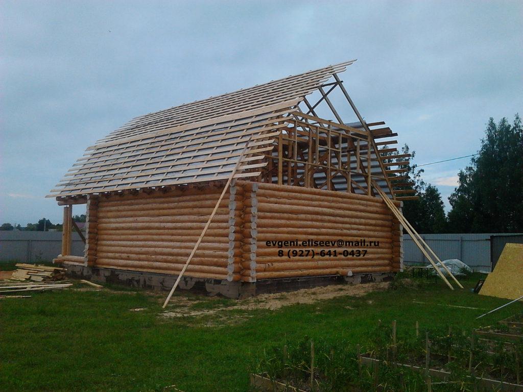 Строительство дома из бревна (32)