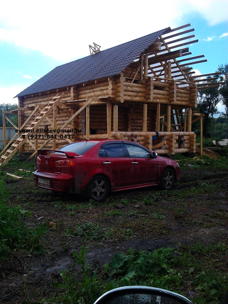 Строительство дома из бревна (33)