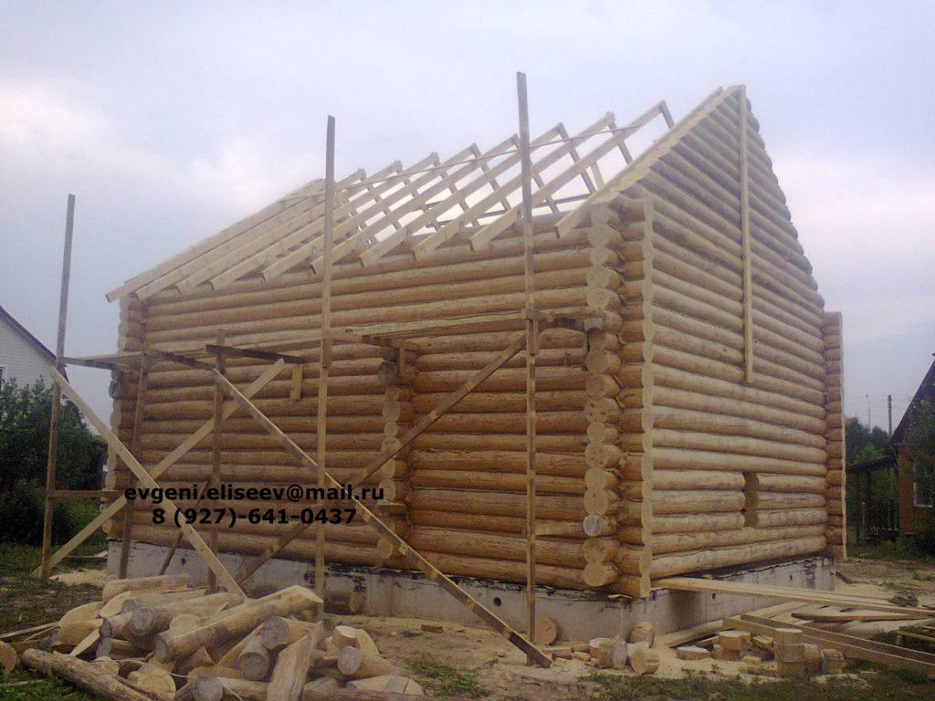 Строительство дома из бревна (36)