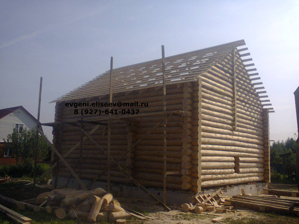 Строительство дома из бревна (37)