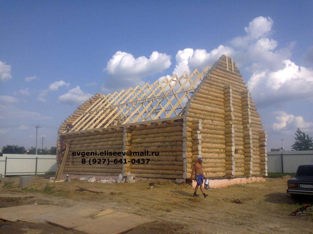 Строительство дома из бревна (40)