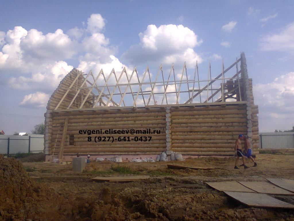 Строительство дома из бревна (41)