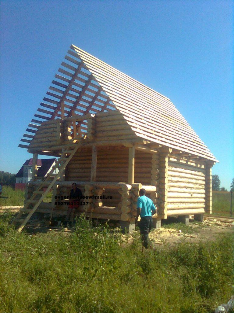 Строительство дома из бревна (8)