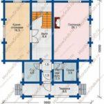 План 1 этажа дома 129 м2