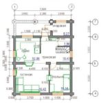 План дома 103,6 м2 1 этажа