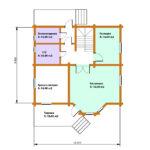 План 1 этажа дома 134 м2