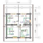 План дома 103,6 м2 2 этажа