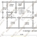 План 2 этажа дома 187,6 м2