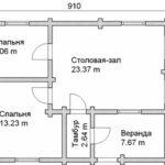 План дома 62 м2