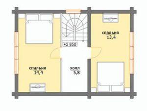 План дома 7 на 7 метров(2)